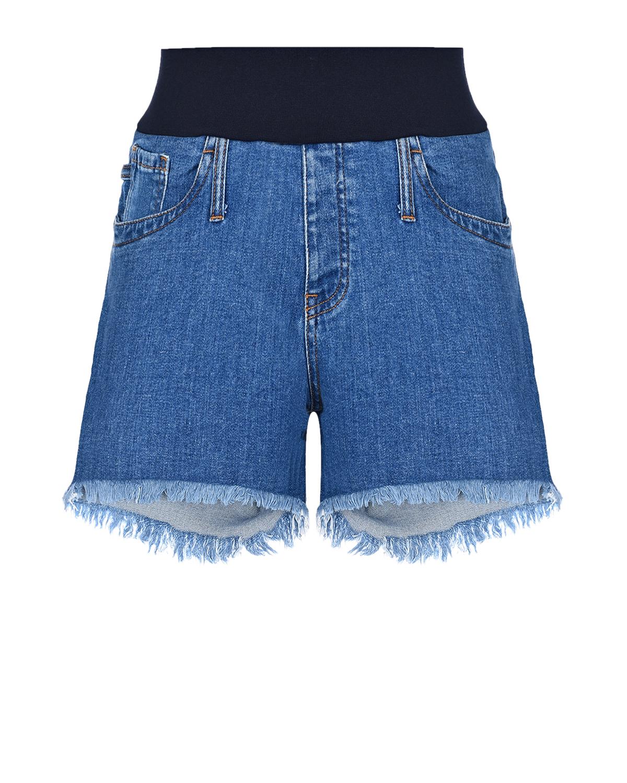 Купить Шорты для беременных с бандажным ремнем Pietro Brunelli, Синий, 98% хлопок+2% эластан