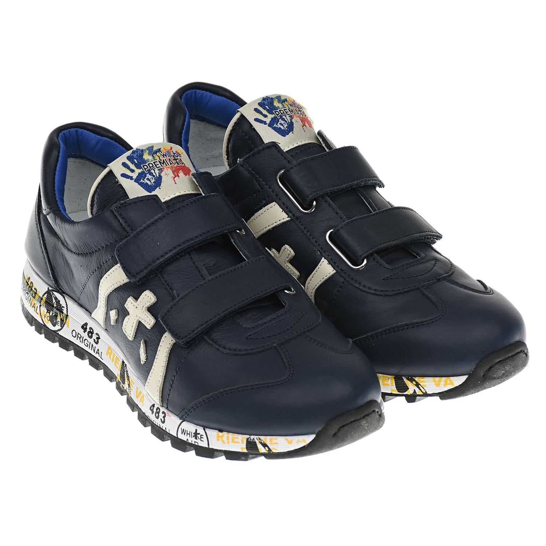 Купить Базовые синие кроссовки will be Premiata детские, Синий, Верх:100% кожа, Подкладка:90% кожа, 7% полиэстер, 3 полиамид, Стелька:100% кожа, Подошва:70% этиленвинилацетат 30% резина