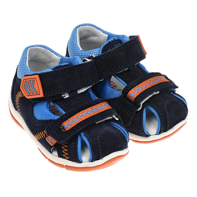 Купить Темно-синие сандалии на липучках SUPERFIT детское, Синий, верх:90% кожа 10% полиэстер, подкладка и стелька:100% кожа, подошва:100% резина