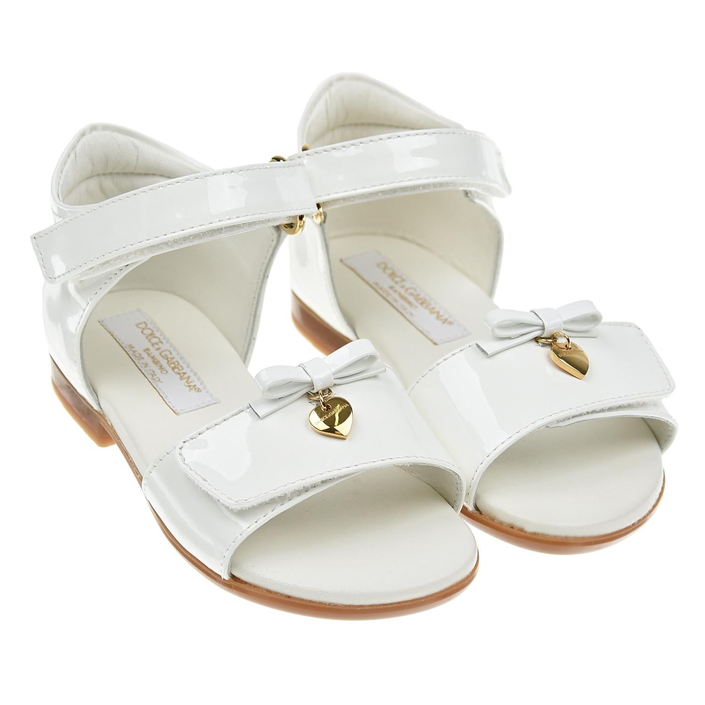 Купить Белые базовые боссоножки Dolce&Gabbana детские, Белый, Верх:100% кожа, Подкладка:95% кожа+5% район, Стелька:%3, Подошва:100% резина