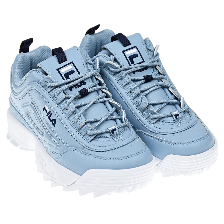 Купить Голубые кроссовки DISRUPTOR II PREMIUM FILA детские, Голубой, Верх:53% синтетическая кожа+47% нат .кожа, подкладка:100% текстиль, подошва:100% резина