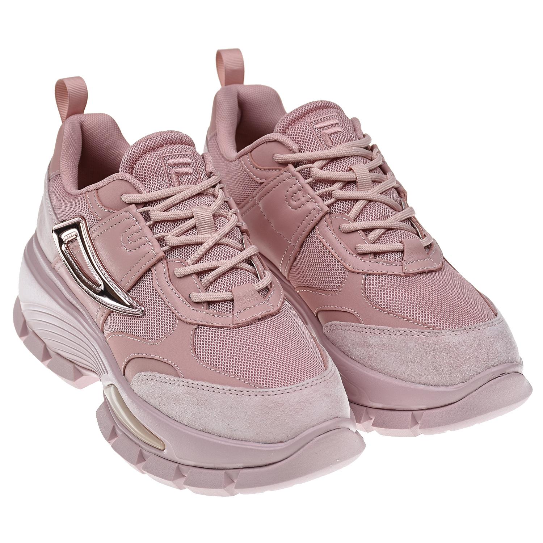 Купить Розовые кроссовки CITY HIKING FILA детские, Розовый, 72% нат.кожа+28% текстиль(полиэстер), подкладка: 100% текстиль, подошва: 100% резина