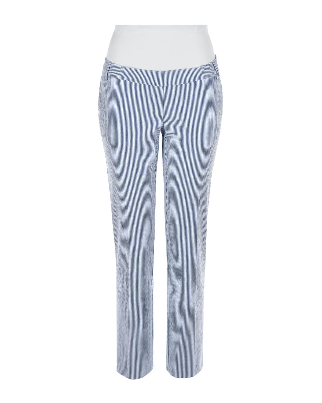 Голубые брюки-капри для беременных Pietro Brunelli голубого цвета