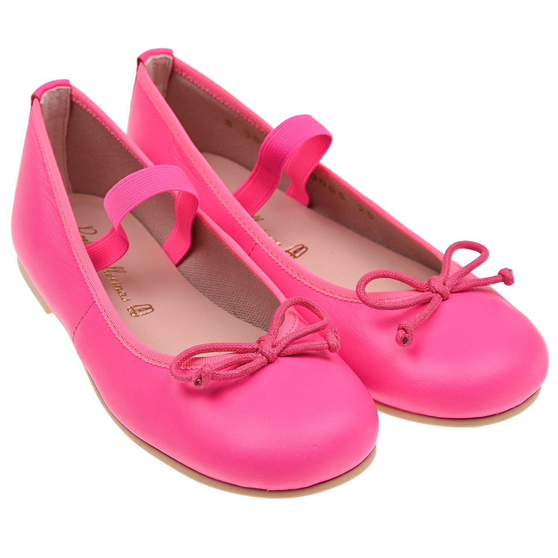 Купить Туфли цвета фуксии Pretty Ballerinas детские, Розовый, Верх:100% кожа, Подкладка:100% хлопок, Стелька:100% кожа, Подошва:100% резина