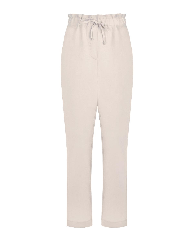 Кремовые брюки для беременных Pietro Brunelli кремового цвета