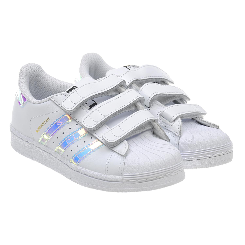 Купить Кожаные кроссовки Superstar Adidas детские, Белый, верх:нат.кожа, полимерные материалы, подкладка:текстиль, подошва:полимерные материалы