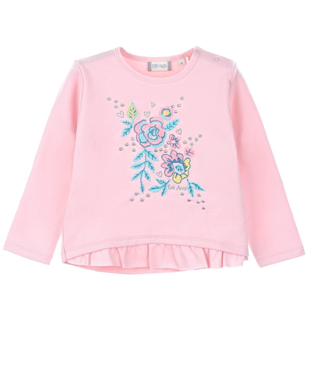 Купить Свитшот с вышивкой Eat Ants by Sanetta детский, Розовый, 95%хлопок+5%эластан