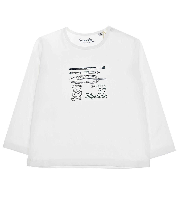 Купить Толстовка Sanetta fiftyseven детская, Белый, 100%хлопок