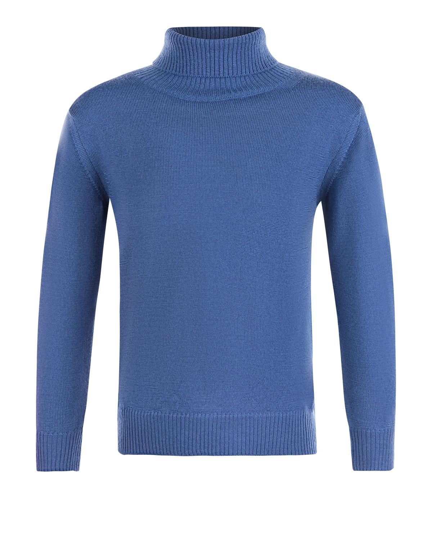 Водолазка Arc-en-cielВодолазки<br>Водолазка Arc-en-ciel из чистой шерсти синего цвета. Базовая модель с характерным воротником и длинными рукавами с манжетами.
