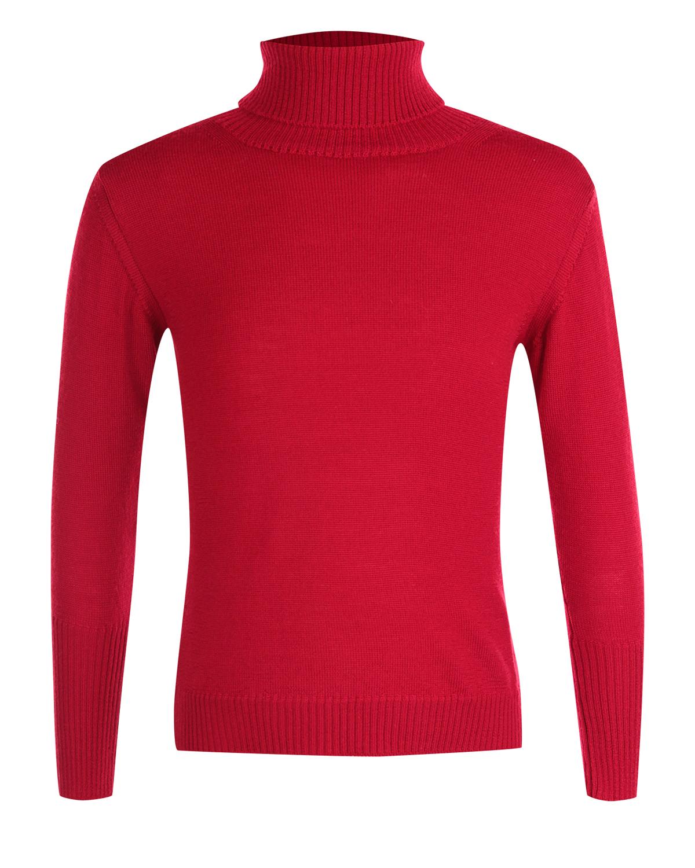 Водолазка Arc-en-cielВодолазки<br>Водолазка Arc-en-ciel из чистой шерсти красного цвета. Базовая модель с характерным воротником и длинными рукавами с манжетами.