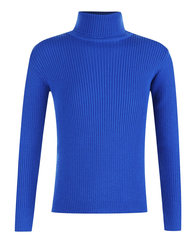 Водолазка KYOВодолазки<br>Синяя водолазка MOLO из чистой шерсти. Базовая модель с характерным воротником и длинными рукавами с манжетами.