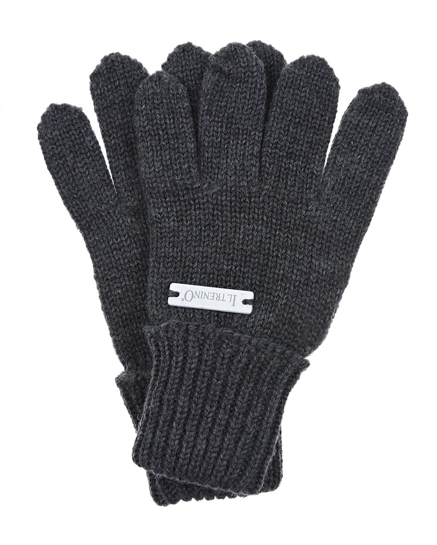 Перчатки Il TreninoВарежки и перчатки<br>Темно-серые шерстяные перчатки Il Trenino.
