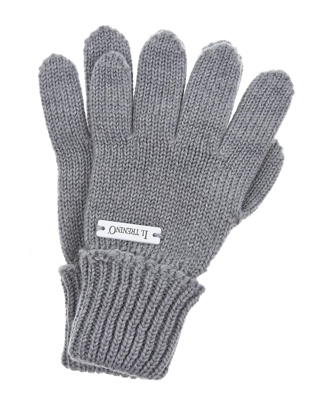 Перчатки Il TreninoВарежки и перчатки<br>Серые шерстяные перчатки Il Trenino