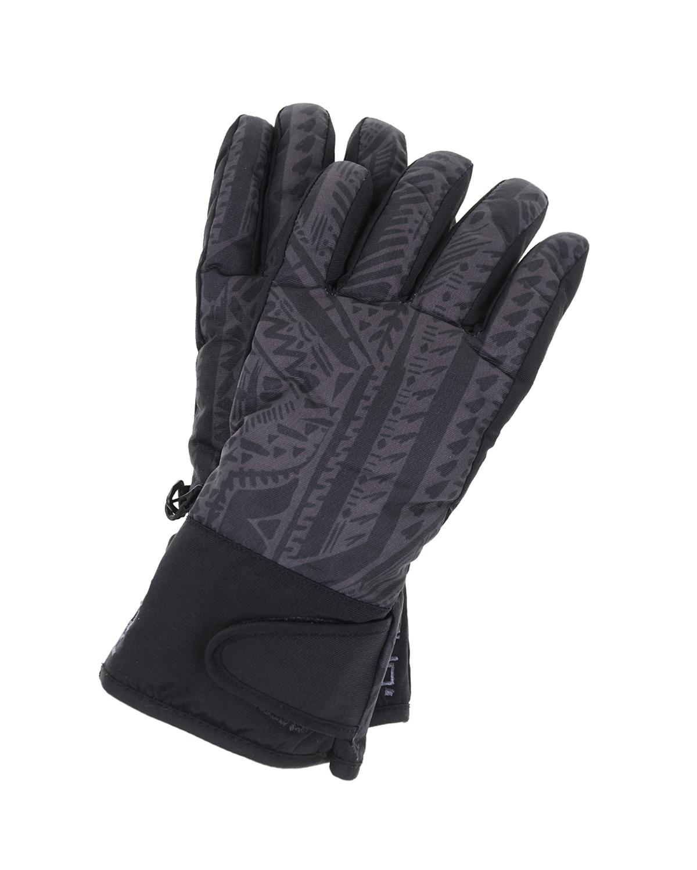 Перчатки непромокаемые MaxiMoВарежки и перчатки<br>Темно-серые перчатки MaxiMo. Непромокаемая базовая модель с противоскользящим покрытием. Перчатки декорированы этническим принтом.