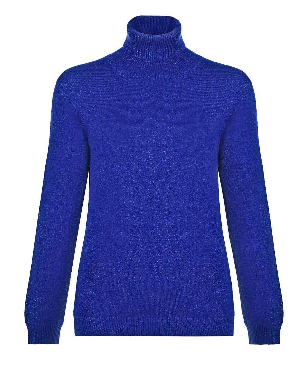 Купить Синяя водолазка с люрексом Arc-en-ciel, Синий, 42%шерсть+28%вискоза+14%полиамид+9%лайкра+7%кашемир