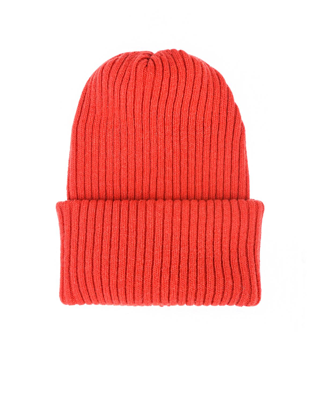 Купить Красная шапка из шерсти и кашемира Catya детская, Красный, 70%шерсть+30%кашемир