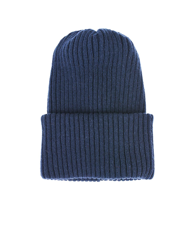 Купить Синяя шапка из шерсти и кашемира Catya детская, Синий, 70%шерсть+30%кашемир