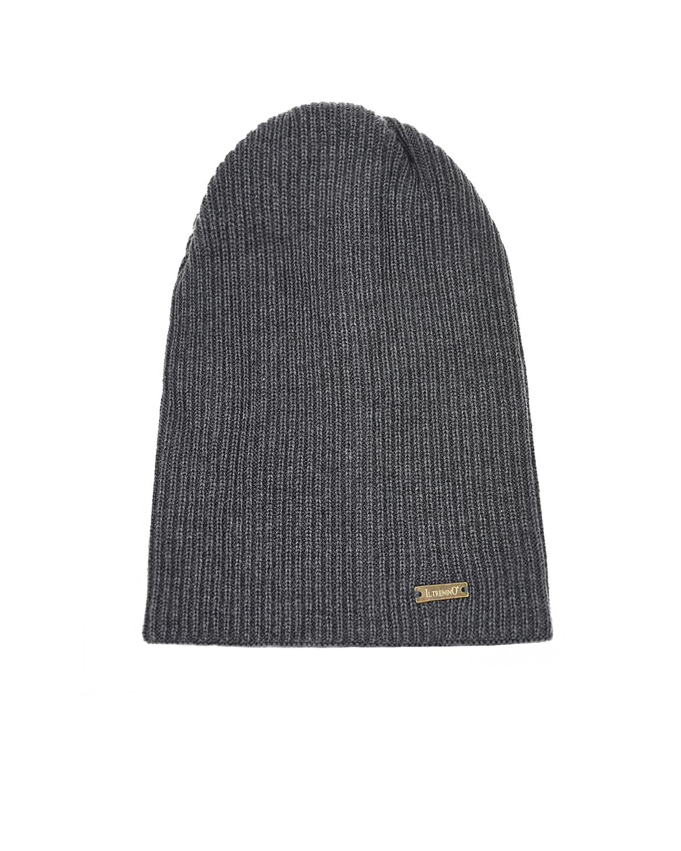 Купить Серая шапка из шерсти Il Trenino детская, Серый, 100%шерсть