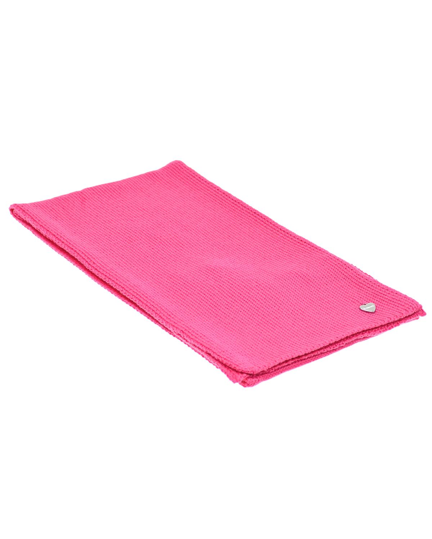 Розовый шарф из шерсти 140х19 см Il Trenino  - купить со скидкой