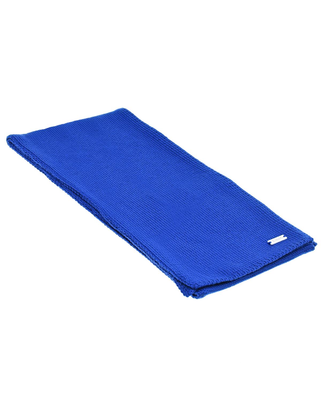 Купить Синий шарф из шерсти 140х19 см Il Trenino