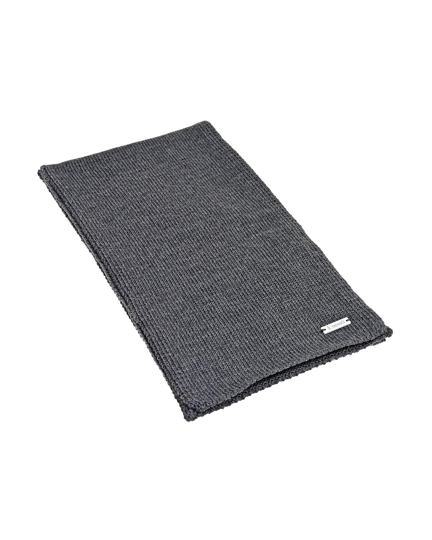 Купить Серый шарф из шерсти 140х19 см Il Trenino