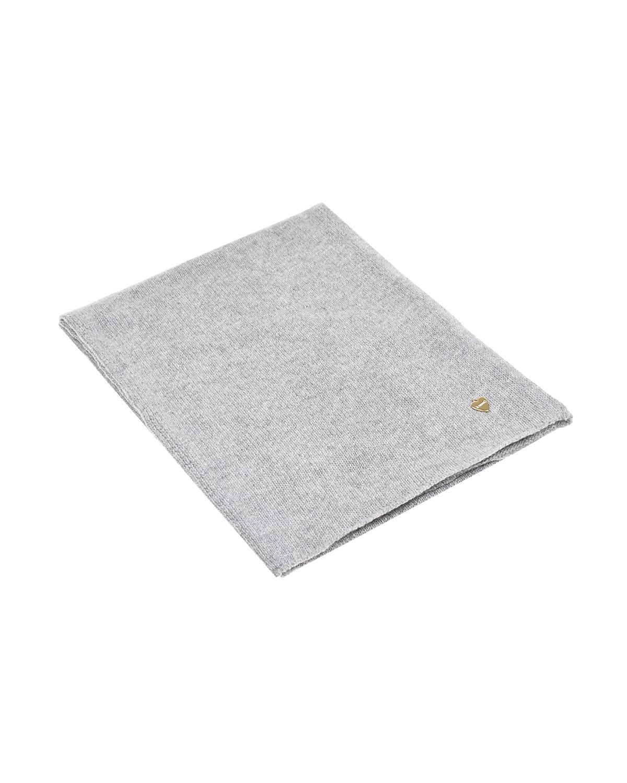 Купить Серый шарф из шерсти и кашемира Il Trenino детский, 70%шерсть+30%кашемир