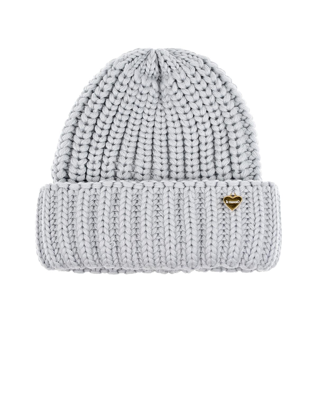 Купить Серая шапка фактурной вязки Il Trenino