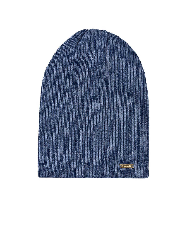 Купить Синяя шерстяная шапка Il Trenino