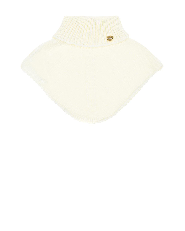 Шарф-горло из шерсти кремового цвета Il Trenino детский фото