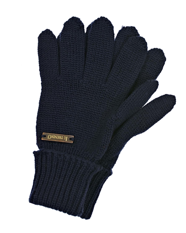 Купить Перчатки из шерсти Il Trenino детские, Синий, 100%шерсть