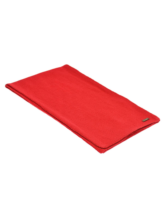Красный шарф из шерсти 155х25 см Il Trenino детский фото