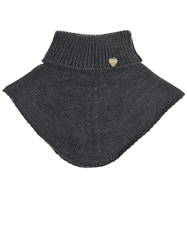 Купить Вязаный шарф-горло Il Trenino детский, Серый, 100%шерсть