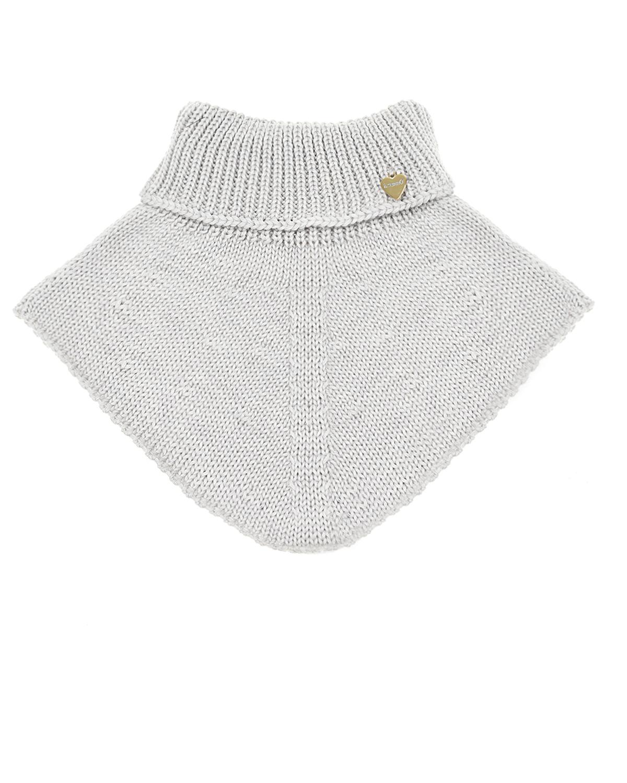Купить Шерстяной шарф-ворот Il Trenino детский, Серый, 100%шерсть