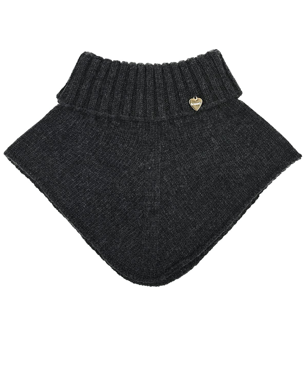 Купить Шарф-горло из шерсти и кашемира Il Trenino детский, Серый, 70%шерсть+30%кашемир