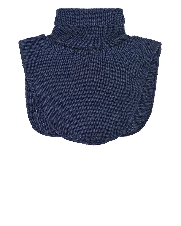 Темно-синий шарф-ворот из шерсти MaxiMo детское фото