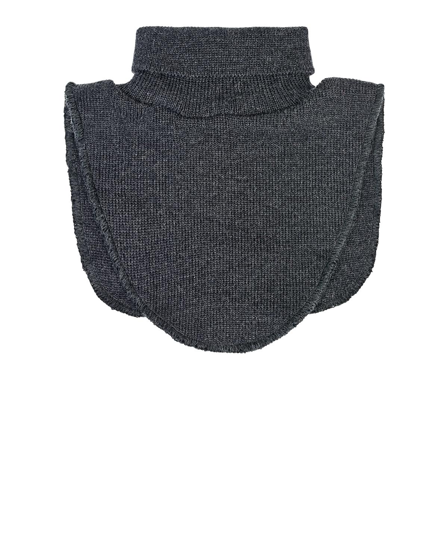 Серый шарф-ворот из шерсти MaxiMo детский фото