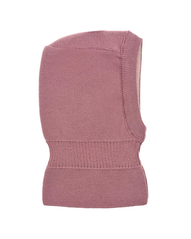 Розовая шапка-шлем из шерсти MaxiMo детская фото