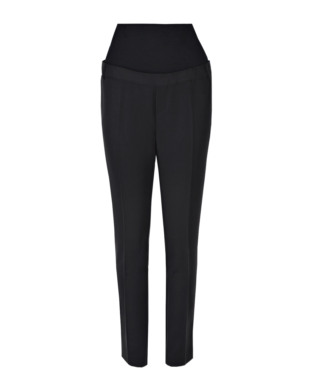 Черные зауженные брюки Harry для беременных Pietro Brunelli черного цвета
