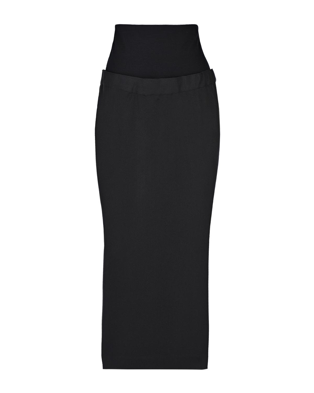 Фото #1: Черная юбка-миди для беременных Cedric Pietro Brunelli