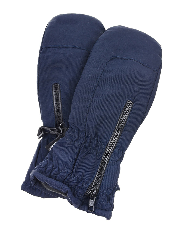 Купить Синие непромокаемые варежки MaxiMo, Синий, 100%полиамид, 100%полиэстер