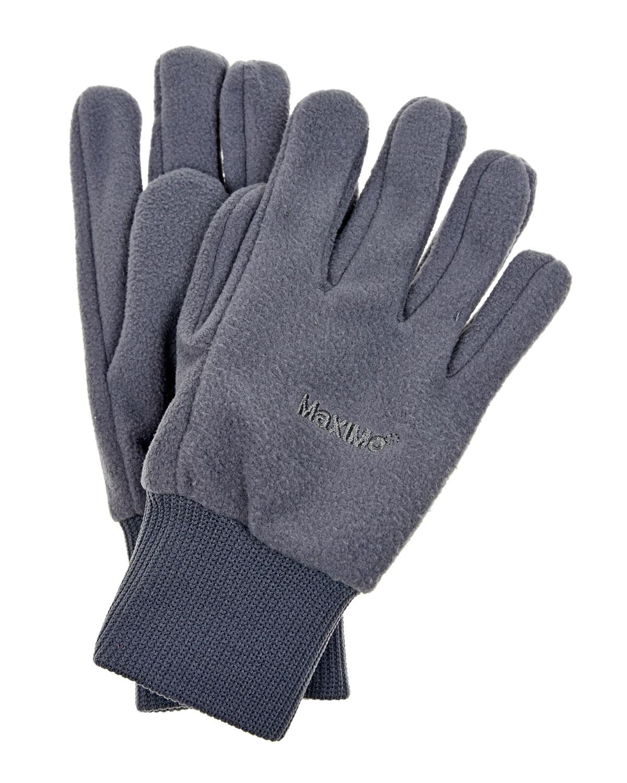 Серые перчатки из флиса MaxiMo детские фото