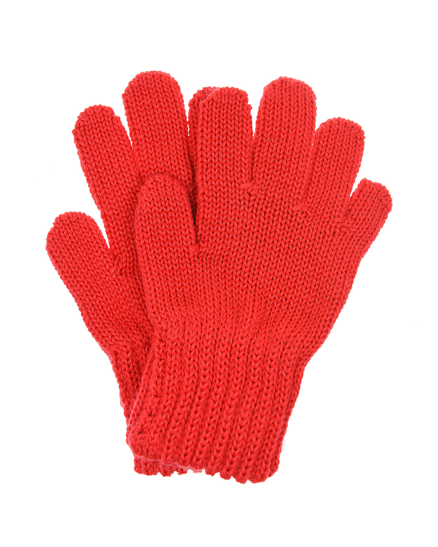 Красные перчатки из шерсти MaxiMo детские фото