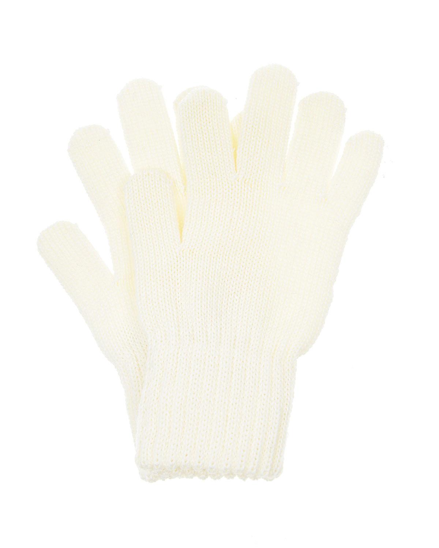 Перчатки из шерсти, кремовые MaxiMo детские фото