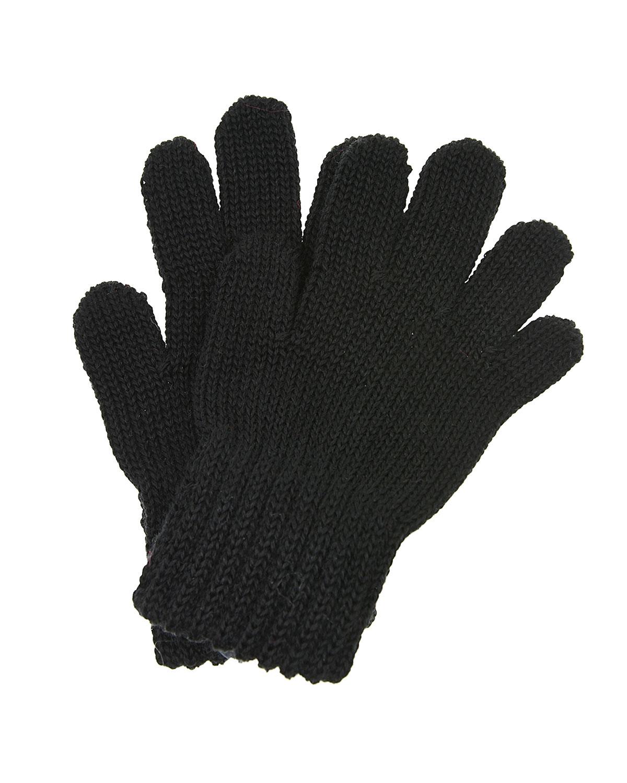 Купить Черные перчатки из шерсти MaxiMo детские, Черный, 100%шерсть