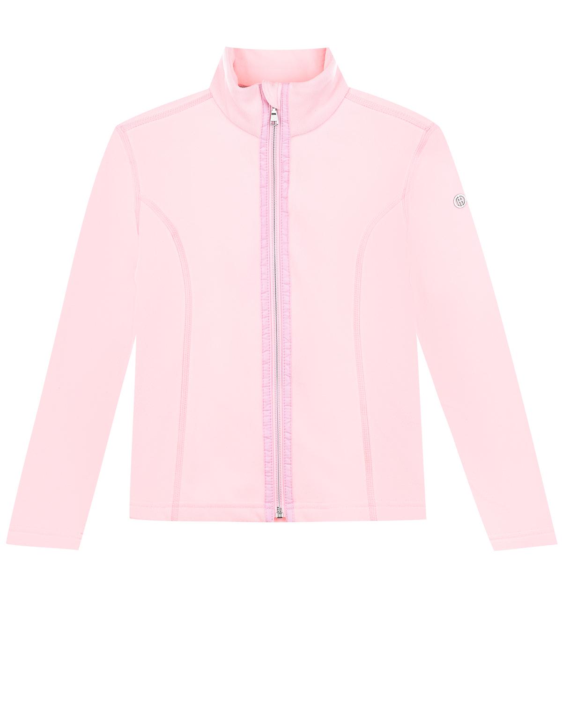 Купить Розовая кофта на молнии из флиса Poivre Blanc детская, Розовый, 100%полиэстер