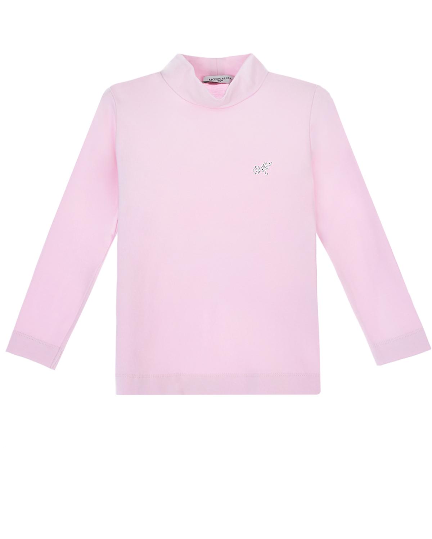 Купить Розовая водолазка с логотипом Monnalisa
