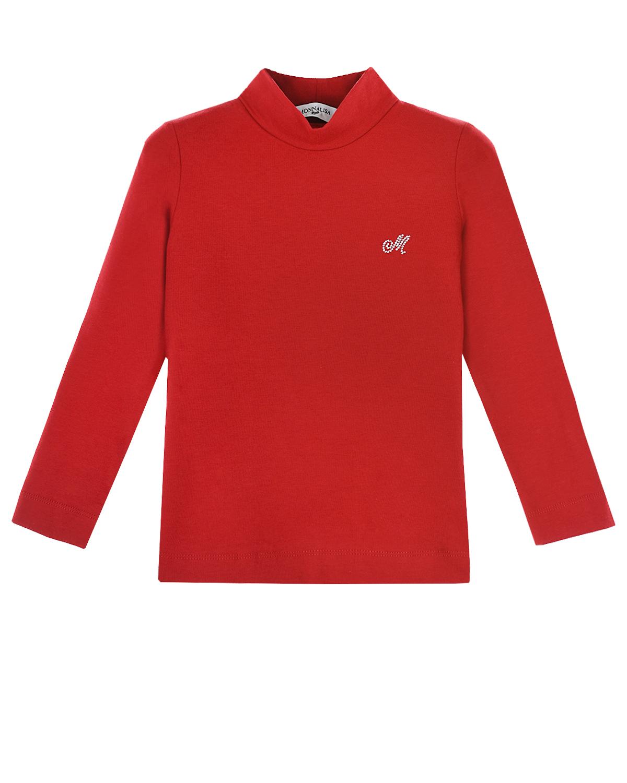 Купить Красная водолазка с логотипом Monnalisa