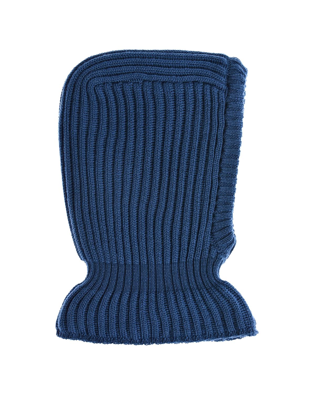 Купить Синяя шапка-шлем из шерсти Il Trenino детская, Синий, 100%шерсть