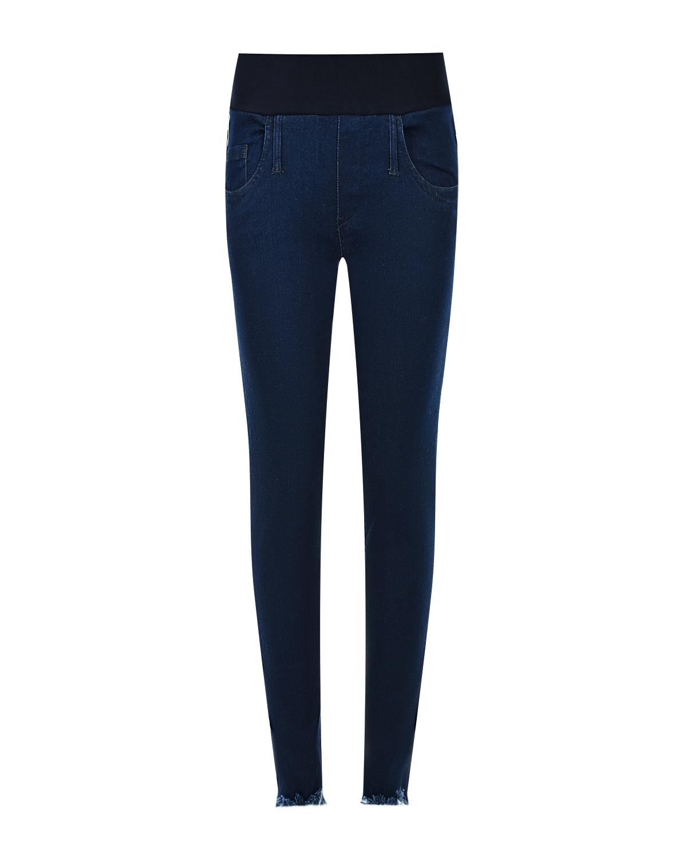 Купить со скидкой Синие джинсы для беременных с необработанным краем Pietro Brunelli