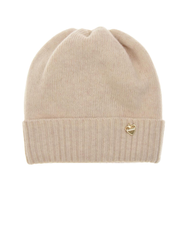 Купить Бежевая шапка из шерсти и кашемира Il Trenino детская, Бежевый, 30%кашемир+70%шерсть